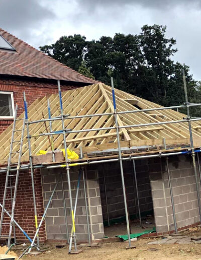 RNR Carpentry - Cut and Truss Roofing in progress